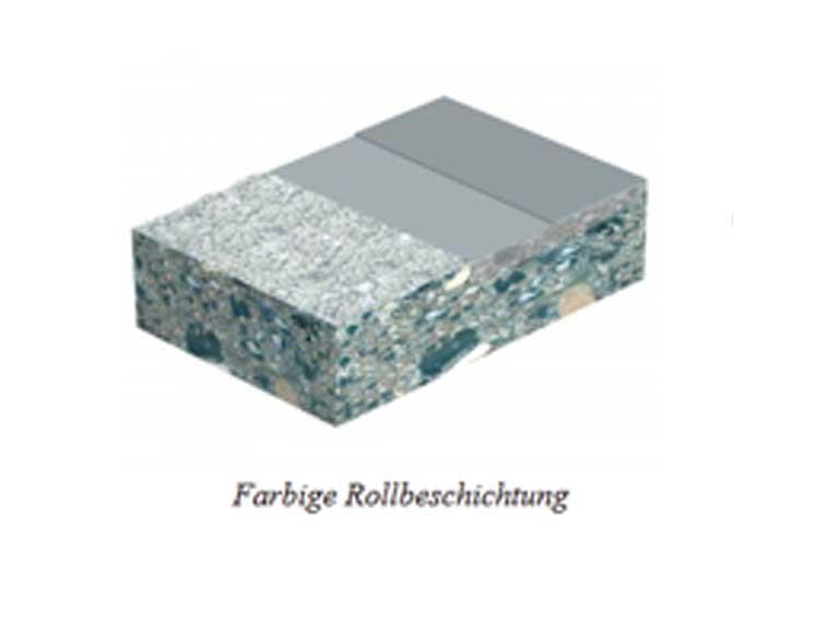 Epoxidharz: Kuhn-POX 100.4 farbige Rollbeschichtung